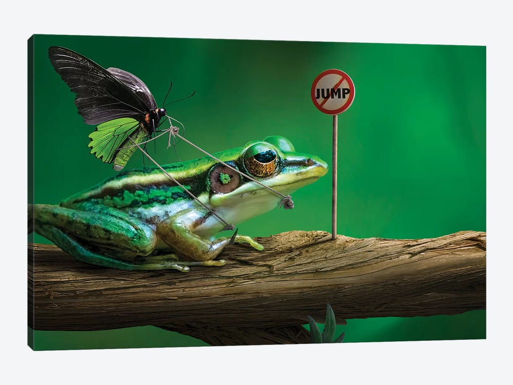 No Jump by Sulaiman Almawash 1-piece Art Print