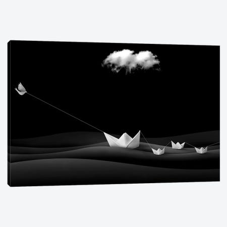 Paper Boats Canvas Print #OXM4157} by Sulaiman Almawash Art Print