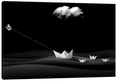 Paper Boats Canvas Art Print