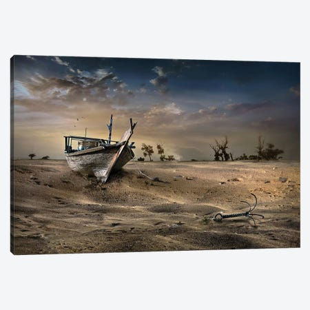 Ship In The Desert Canvas Print #OXM4158} by Sulaiman Almawash Canvas Wall Art