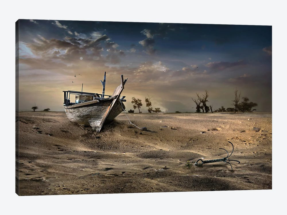 Ship In The Desert by Sulaiman Almawash 1-piece Canvas Print