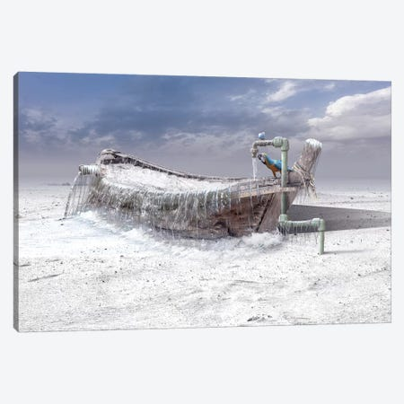 The Frozen Water 3-Piece Canvas #OXM4159} by Sulaiman Almawash Canvas Art