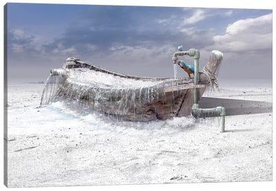 The Frozen Water Canvas Art Print