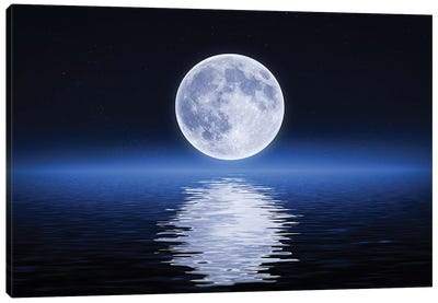 Moon Reflection Canvas Art Print