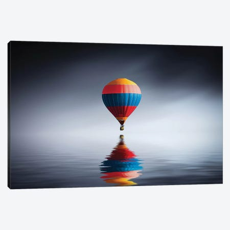 Reflection Balloon Canvas Print #OXM4177} by Bess Hamiti Canvas Art Print