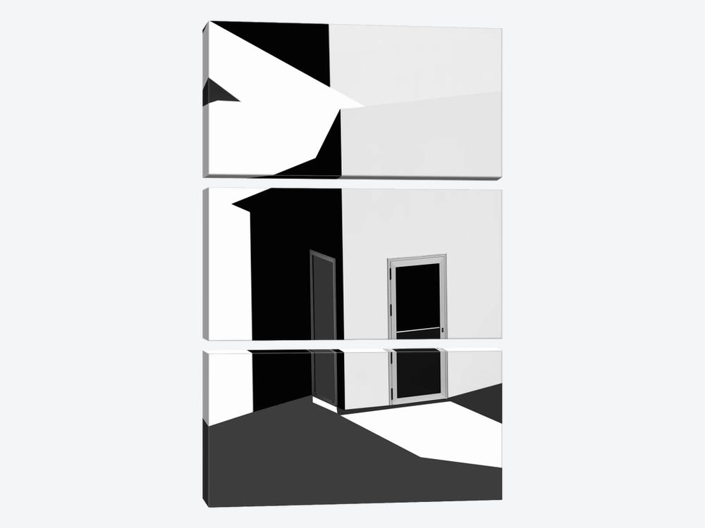 Closed Doors by Olavo Azevedo 3-piece Art Print