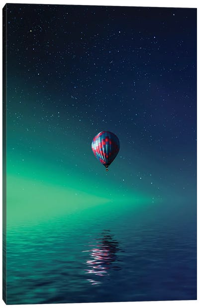 Balloon On Lake Batllava Canvas Art Print