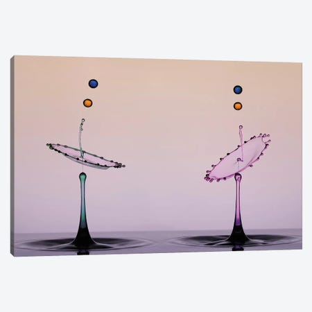 Two Color Water Drop 3-Piece Canvas #OXM4259} by Edy Pamungkas Canvas Art Print