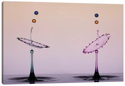 Two Color Water Drop Canvas Art Print