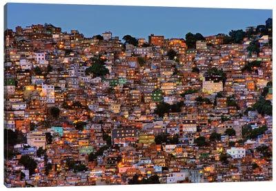 Nightfall In The Favela da Rocinha Canvas Art Print