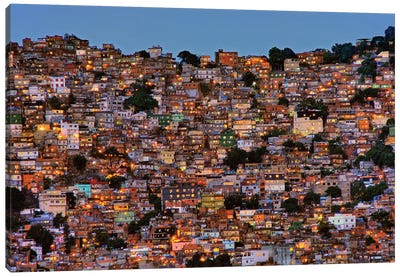 Nightfall In The Favela da Rocinha Canvas Art Print