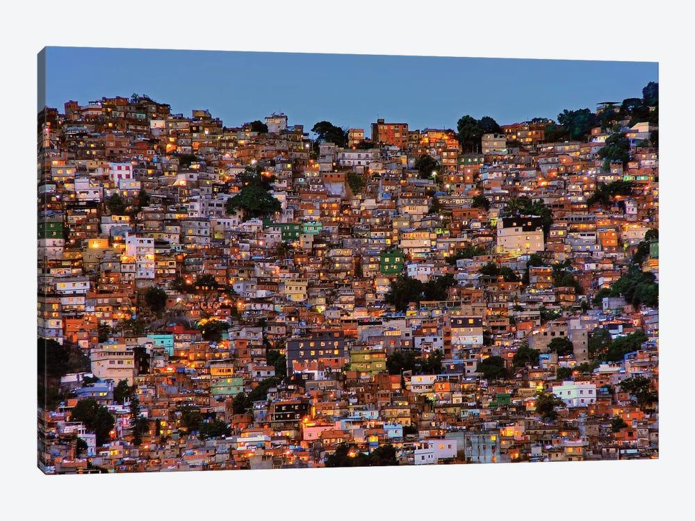 Nightfall In The Favela da Rocinha by Adelino Alves 1-piece Canvas Wall Art