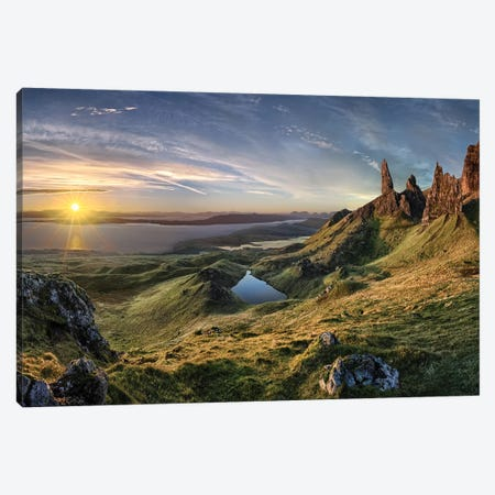 The Old Man of Storr Canvas Print #OXM4309} by Christian Schweiger Canvas Art Print