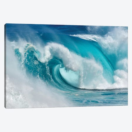 When The Ocean Turns Into Blue Fire Canvas Print #OXM4312} by Daniel Montero Canvas Wall Art