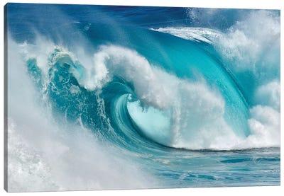 When The Ocean Turns Into Blue Fire Canvas Art Print