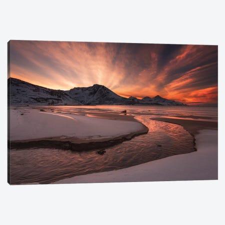 Golden Sunset Canvas Print #OXM4354} by Jaroslav Zakravsky Canvas Print