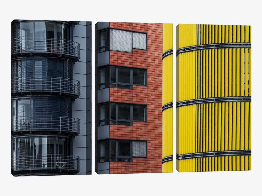 Opposite Attraction II by Benjamin Brosdau 3-piece Canvas Art