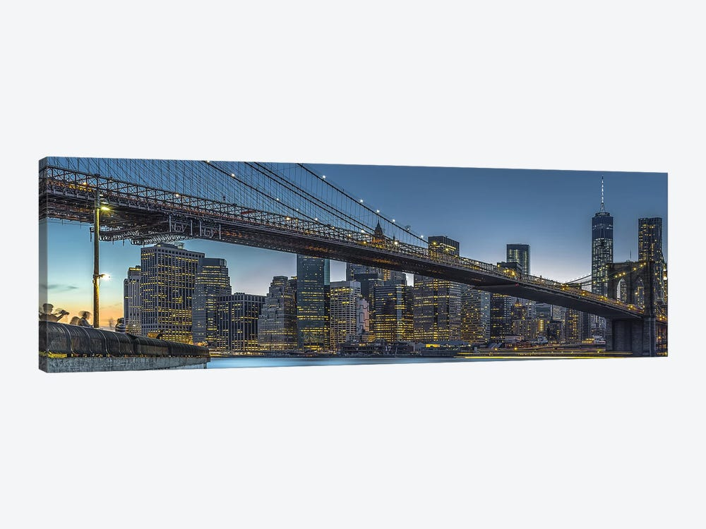 New York - Blue Hour Over Manhattan by Michael Jurek 1-piece Art Print