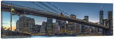 New York - Blue Hour Over Manhattan Canvas Art Print