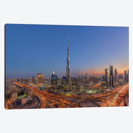 The Amazing Burj Khalifah Canvas Print #OXM4393} by Mohammad Rustam Canvas Art