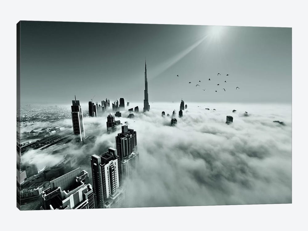 Up Up And Above by Naufal 1-piece Canvas Art