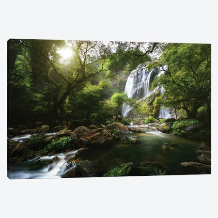 Mountain stream Canvas Print #OXM4408} by Patrick Foto Canvas Artwork
