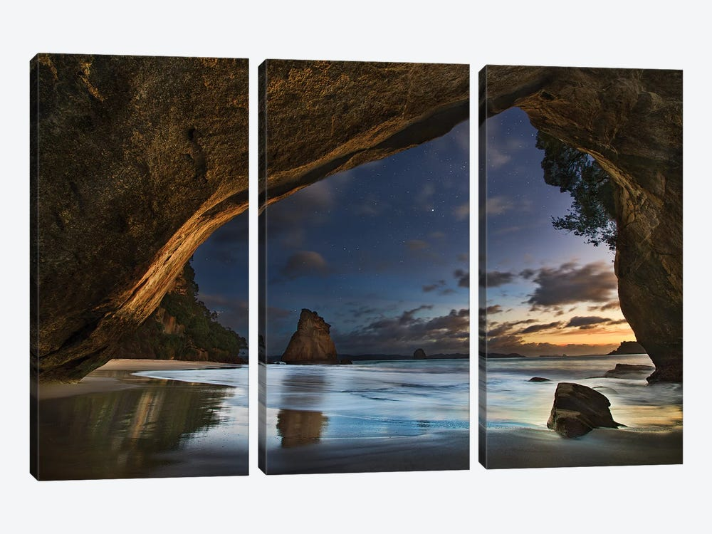 Cathedral Cove by Yan Zhang 3-piece Canvas Wall Art