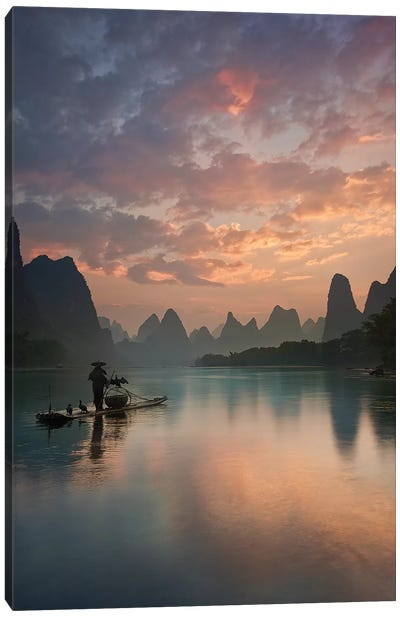 Li River Sunrise Canvas Art Print