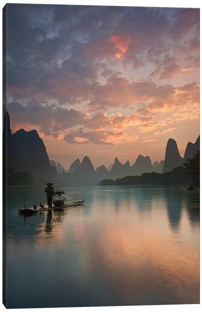 Li River Sunrise Canvas Art Print