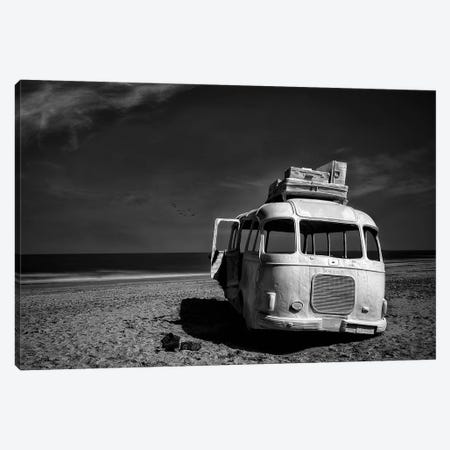 Beached Bus Canvas Print #OXM4449} by Yvette Depaepe Canvas Wall Art
