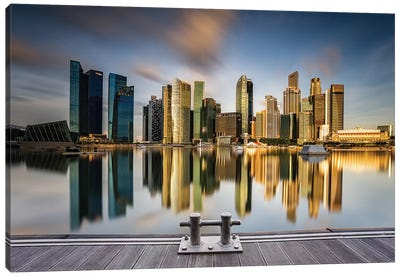 Golden Morning In SIngapore Canvas Art Print