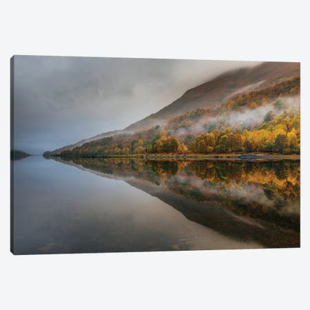 Misty Loch Canvas Print #OXM4476} by Adrian Popan Canvas Wall Art