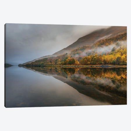 Misty Loch Canvas Print #OXM4476} by Adrian Popan Canvas Wall Art