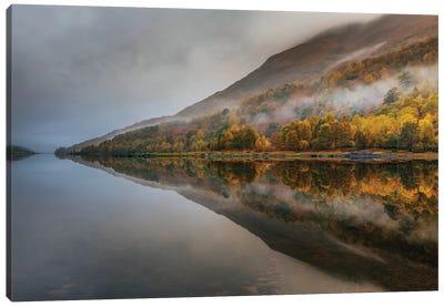 Misty Loch Canvas Art Print