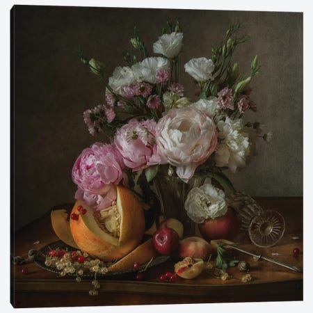 Flower And Fruit Canvas Print #OXM4483} by Anna Petina Canvas Artwork