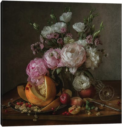 Flower And Fruit Canvas Art Print