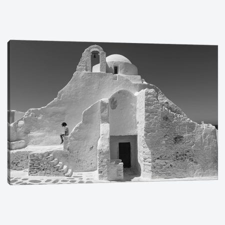 Paraportiani,Mykonos, Greece 3-Piece Canvas #OXM4490} by Charles Cho Art Print