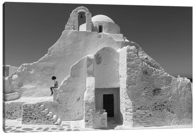 Paraportiani,Mykonos, Greece Canvas Art Print