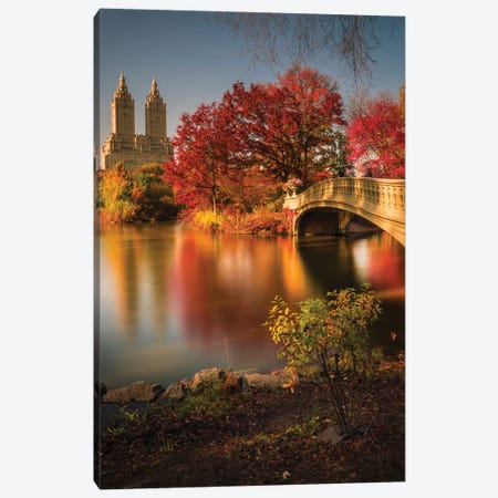 Fall In Central Park Canvas Print #OXM4493} by Christopher R. Veizaga Canvas Art Print