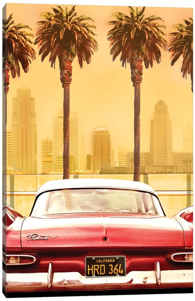 Plymouth Savoy With Palms Canvas Art Print