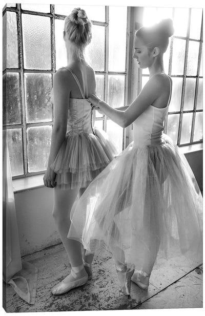 Ballet Dancers Preparation ... Canvas Art Print