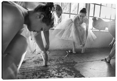Ballet Dancers Preparation... Canvas Art Print