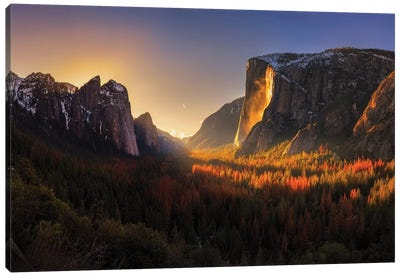 Yosemite Firefall Canvas Art Print