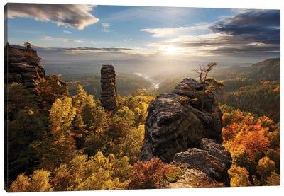 Autumn In The Rocks Canvas Art Print