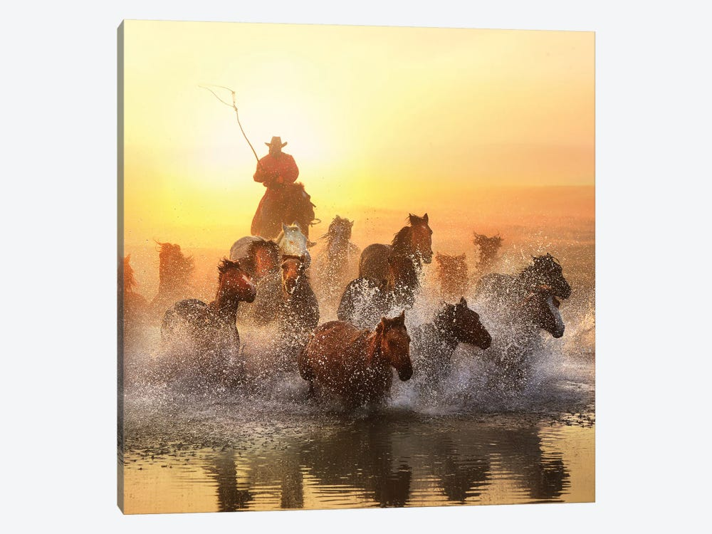 Morning Exercise by Na Zheng 1-piece Canvas Art Print