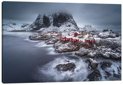 Winter Lofoten Islands Canvas Art Print