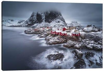 Winter Lofoten Islands Canvas Art Print