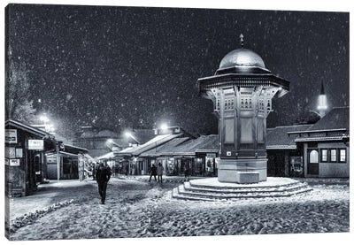 Winter In Sarajevo Canvas Art Print