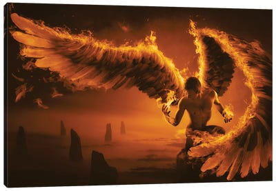 Fiery Canvas Art Print