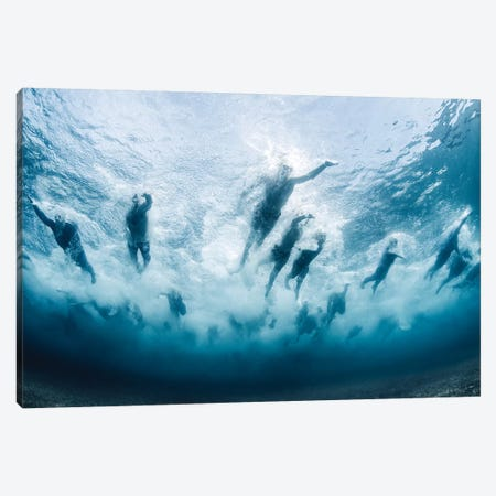 Swim Canvas Print #OXM4658} by Davide Lopresti Canvas Print